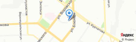 Элиз-Дент на карте Челябинска