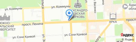 Русские блины на карте Челябинска