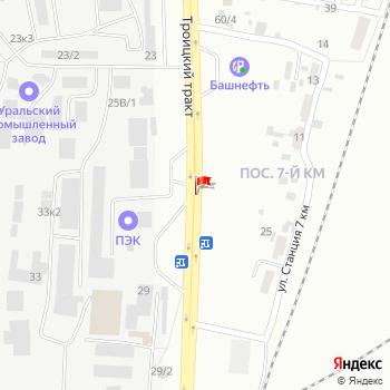г. Челябинск, ул. Троицкий тракт, на карта