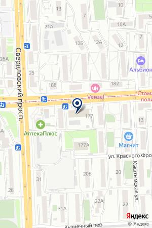 БАНКОМАТ СБЕРБАНК РОССИИ на карте Челябинска