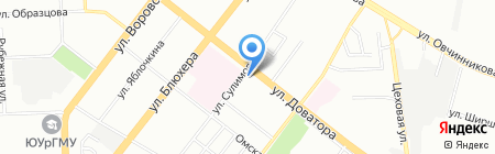 Спецрегион на карте Челябинска