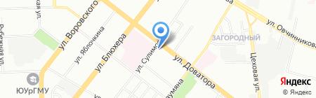 Шодчел на карте Челябинска