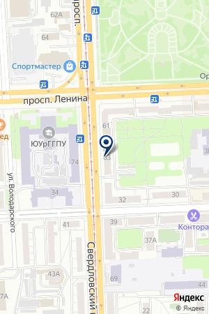 БАНК РУСФИНАНС БАНК на карте Челябинска