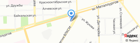 Трио на карте Челябинска