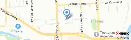Аквес на карте Челябинска
