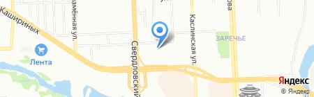 Термакат на карте Челябинска