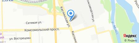 Стронекс на карте Челябинска
