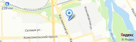 Октагон на карте Челябинска