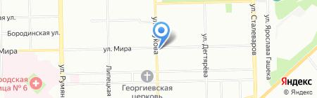 Золушка на карте Челябинска