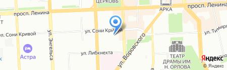 Южно-Уральская сантехническая компания на карте Челябинска