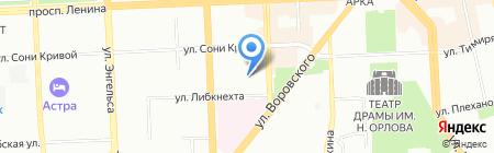 Детский сад №52 на карте Челябинска