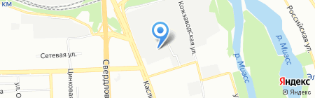 ЖБИЧЕЛ на карте Челябинска