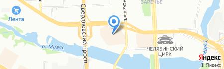 Сити Джинс на карте Челябинска