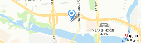 Приданое на карте Челябинска