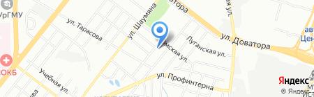 Уральская звезда на карте Челябинска