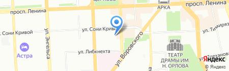 Спутник на карте Челябинска