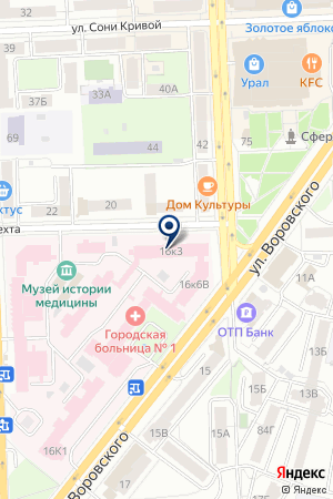 АССОЦИАЦИЯ ОРГАНИЗАТОРОВ ЗДРАВООХРАНЕНИЯ на карте Челябинска