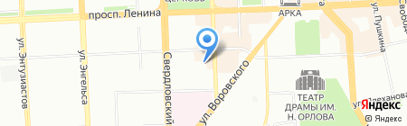 Мегаполис на карте Челябинска