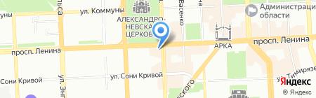 К теще на блины на карте Челябинска