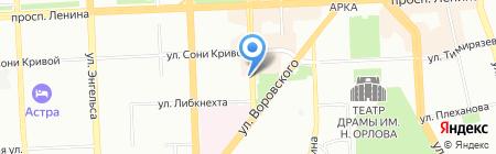 Отдел Государственной фельдъегерской службы РФ в г. Челябинске на карте Челябинска