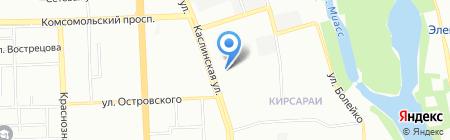 Родник на карте Челябинска
