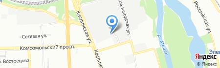 Автотеатр-Челябинск на карте Челябинска