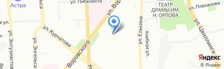 Вымпел на карте Челябинска
