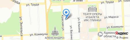 Мари-Текс на карте Челябинска