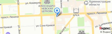 Орхидея на карте Челябинска