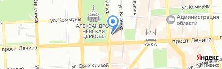 Паллада на карте Челябинска