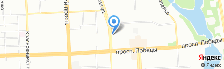 Чебаркульская птица на карте Челябинска
