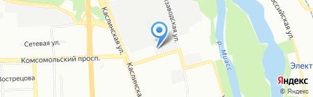 Гидрофлагман на карте Челябинска