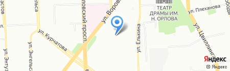 Седьмое Небо на карте Челябинска