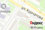 Схема проезда до компании Мир товаров в Челябинске