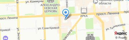 Мировые судьи Центрального района на карте Челябинска