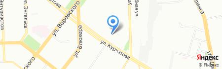 Отдел судебных приставов по Советскому району г. Челябинска на карте Челябинска
