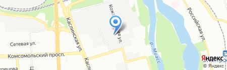 МИК на карте Челябинска