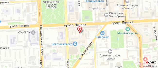 Карта расположения пункта доставки Челябинск Васенко в городе Челябинск