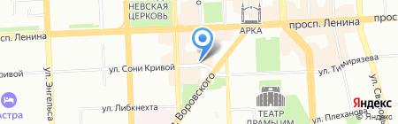 Люксор на карте Челябинска