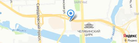 Магазин детской одежды на ул. Кирова на карте Челябинска