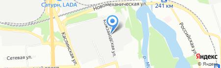 Пораблок на карте Челябинска