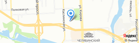 Челяба на карте Челябинска