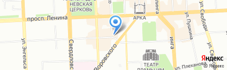 Школьник на карте Челябинска