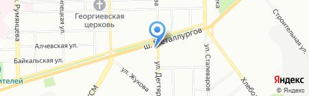 Александровский на карте Челябинска