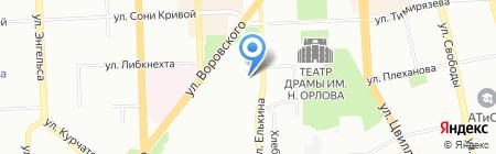 Мастерская натяжных потолков на карте Челябинска