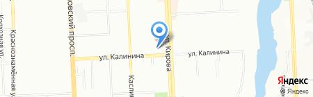 Общий отдел Администрации Калининского района г. Челябинска на карте Челябинска