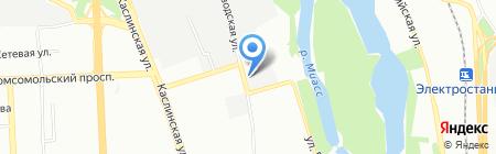 Оранжевый шиномонтаж на карте Челябинска
