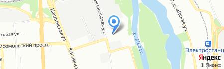 Пекоф на карте Челябинска