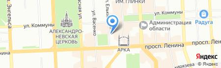 Социометрика на карте Челябинска