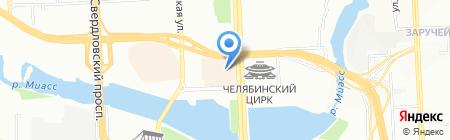 Восточный город на карте Челябинска